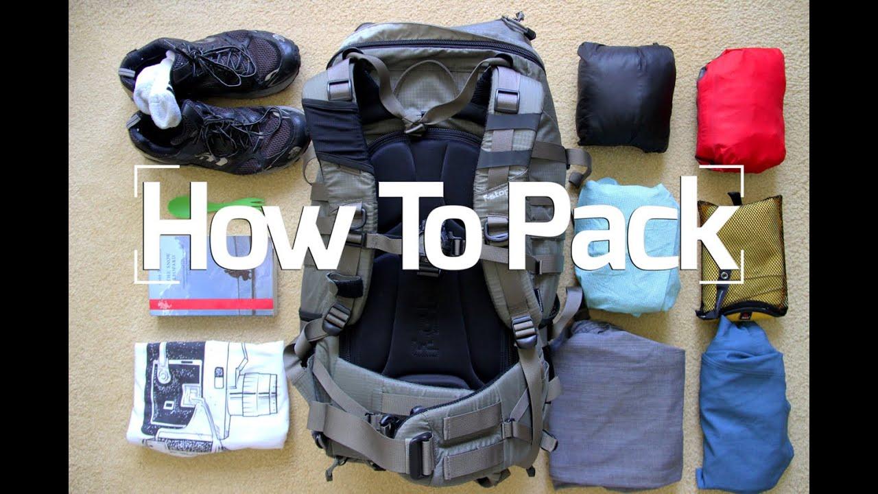 Hướng dẫn đóng gói hành lý