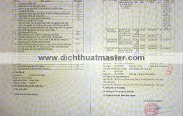 Giấy chứng nhận đăng ký kinh doanh tiếng Anh
